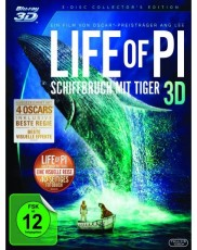 Life of Pi - Schiffbruch mit Tiger 3D (Collectors Edition) Blu-ray Cover