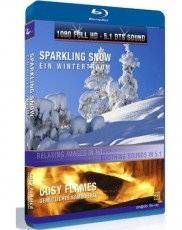 Sparkling Snow / Cosy Flames Blu-ray Cover