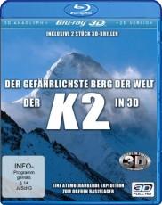 Der K2 in 3D - Der gefährlichste Berg der Welt (Real 3D inkl. 2 3D anaglyph Brillen + 2D-Version) Blu-ray Cover