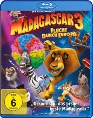 Madagascar 3 - Flucht durch Europa  Blu-ray Cover