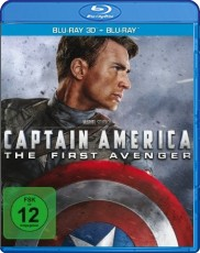Captain America - The First Avenger 3D (inkl. 2D Version) Blu-ray Cover