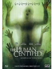 Human Centipede (Uncut, Schuber,  BluRay Film + Bonus DVD) Blu-ray Cover
