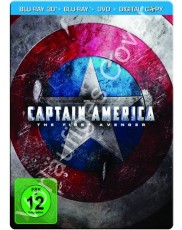 Captain America 3D: Steelbook (inkl. DVD + Digital Copy) Blu-ray Cover