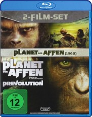 Planet der Affen 1968 & Planet der Affen: Prevolution (Doppelpack) Blu-ray Cover